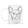 PRINTFASHION Francia bulldog - Bögre - Fehér