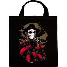 PRINTFASHION Freddy & Jason - Vászontáska - Fekete