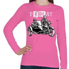 PRINTFASHION fRIDEay  - Női hosszú ujjú póló - Rózsaszín