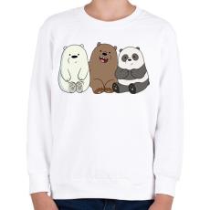 PRINTFASHION Friend Bears - Gyerek pulóver - Fehér