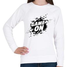 PRINTFASHION Game On - Női pulóver - Fehér