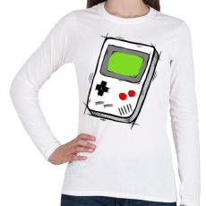 PRINTFASHION GameBoy - Női hosszú ujjú póló - Fehér