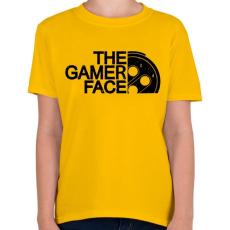 PRINTFASHION Gamer Face - Gyerek póló - Sárga