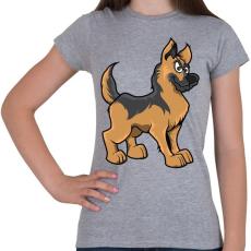 PRINTFASHION German Shepherd - Női póló - Sport szürke