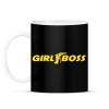 PRINTFASHION Girl Boss - Bögre - Fekete