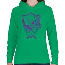PRINTFASHION Gonosz sportgép - Női kapucnis pulóver - Zöld