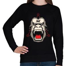 PRINTFASHION Gorillaz - Női pulóver - Fekete