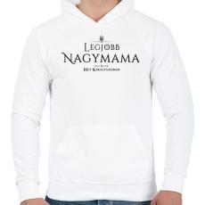 PRINTFASHION got-legjobb-nagymama-black - Férfi kapucnis pulóver - Fehér
