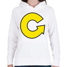 PRINTFASHION grabowski - Női kapucnis pulóver - Fehér