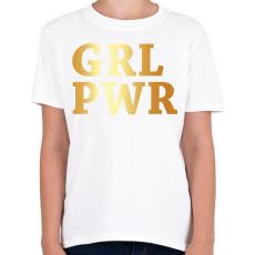 PRINTFASHION GRL PWR - Gyerek póló - Fehér