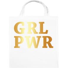 PRINTFASHION GRL PWR - Vászontáska - Fehér