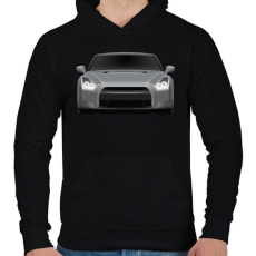 PRINTFASHION GTR - Férfi kapucnis pulóver - Fekete