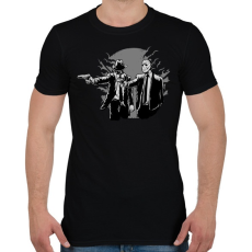 PRINTFASHION Gyilkos páros - Férfi póló - Fekete