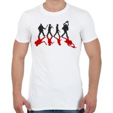 PRINTFASHION Gyilkosok - Férfi póló - Fehér