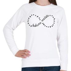 PRINTFASHION Hakuna Matata - Női pulóver - Fehér