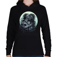 PRINTFASHION Halálos Csók - Női kapucnis pulóver - Fekete