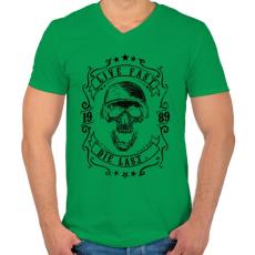 PRINTFASHION Halj meg utolsónak - Férfi V-nyakú póló - Zöld