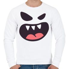PRINTFASHION Halloween arc - Férfi pulóver - Fehér