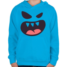 PRINTFASHION Halloween arc - Gyerek kapucnis pulóver - Azúrkék