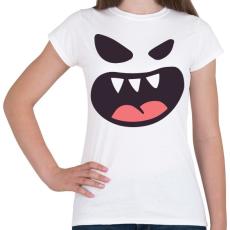 PRINTFASHION Halloween arc - Női póló - Fehér