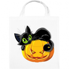PRINTFASHION Halloween cica - Vászontáska - Fehér