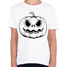 PRINTFASHION Halloween tök - Gyerek póló - Fehér