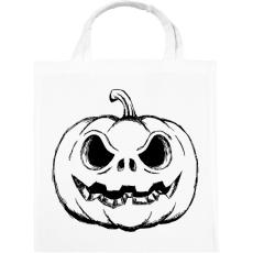 PRINTFASHION Halloween tök - Vászontáska - Fehér