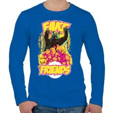 PRINTFASHION Hamis barát - Férfi hosszú ujjú póló - Királykék