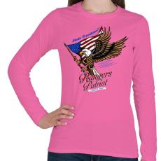 PRINTFASHION Hazafi - Női hosszú ujjú póló - Rózsaszín