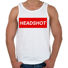 PRINTFASHION Headshot - Férfi atléta - Fehér