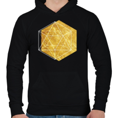 PRINTFASHION Hexagonal 2 - Férfi kapucnis pulóver - Fekete