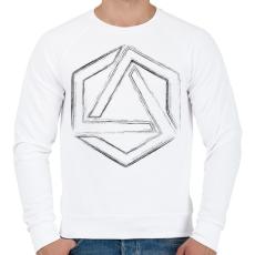 PRINTFASHION Hexagonal 4 - Férfi pulóver - Fehér