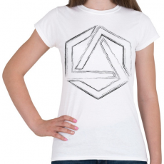 PRINTFASHION Hexagonal 4 - Női póló - Fehér