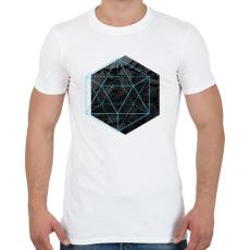 PRINTFASHION Hexagonal - Férfi póló - Fehér