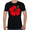 PRINTFASHION Hibiscus - Férfi póló - Fekete