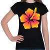 PRINTFASHION Hibiscus - Női póló - Fekete