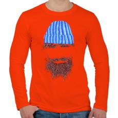 PRINTFASHION Hipszter - Férfi hosszú ujjú póló - Narancs
