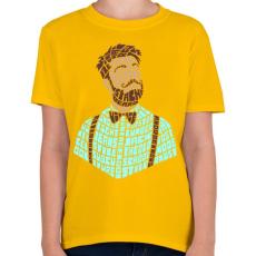 PRINTFASHION Hipszter - Gyerek póló - Sárga