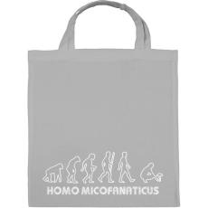 PRINTFASHION Homo micofanaticus (sötét) - Vászontáska - Szürke