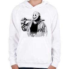 PRINTFASHION Horror cirkusz - Gyerek kapucnis pulóver - Fehér