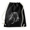 PRINTFASHION horse spirit - Sportzsák, Tornazsák - Fekete