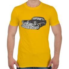 PRINTFASHION Hot rod - Férfi póló - Sárga