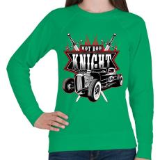 PRINTFASHION HOT ROD király - Női pulóver - Zöld