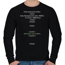 PRINTFASHION HTML - Férfi pulóver - Fekete