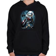 PRINTFASHION Hullavadász - Gyerek kapucnis pulóver - Fekete