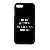 PRINTFASHION I am not antisocial... - Telefontok - Fekete hátlap