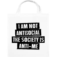 PRINTFASHION I am not antisocial... - Vászontáska - Fehér