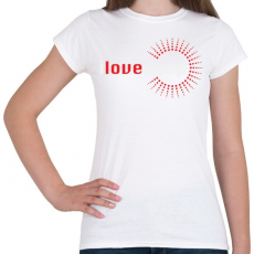 PRINTFASHION i-love-deep-white-red - Női póló - Fehér