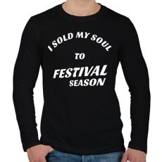PRINTFASHION I sold my soul to FESTIVAL SEASON - Férfi hosszú ujjú póló - Fekete