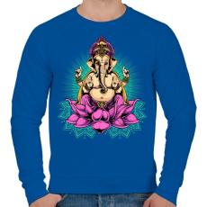 PRINTFASHION Indiai istenség - Férfi pulóver - Királykék
